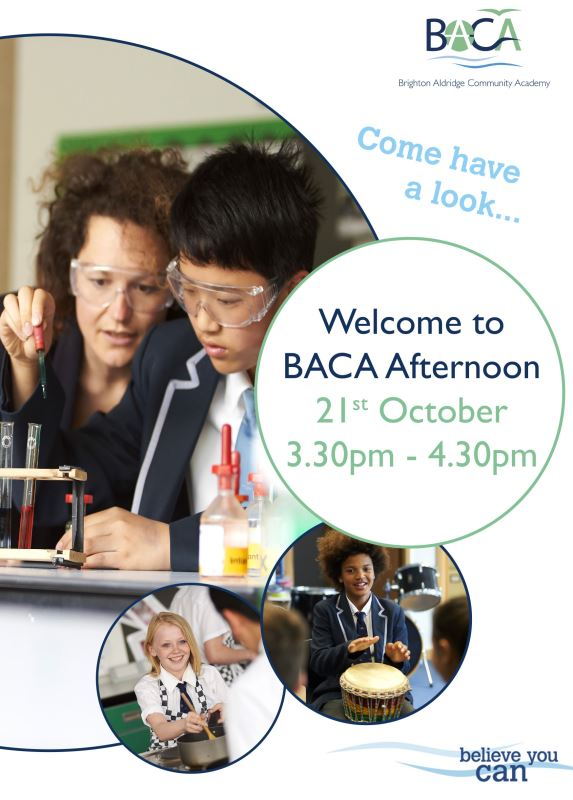 Welcome to BACA Afternoon Flyer