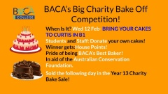 BACA College's Big Charity Bake Off Competition
