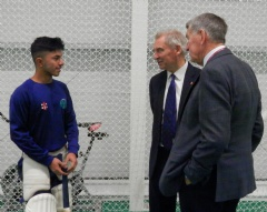 England and Wales Cricket Board President Visits BACA