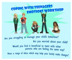 Upcoming Parent Support Workshop: Coping with Teenagers Emotions